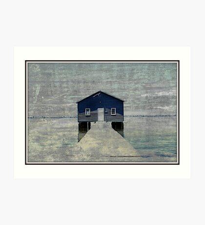 Crawley Boatshed Art Print