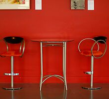 Red Table and Chairs by Lee LaFontaine