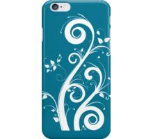 Teal Scrolls iPhone Case/Skin