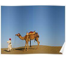Thar Desert, Rajasthan, India Poster
