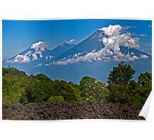 Fuego & Acatenango Volcanoes. Poster