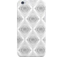 Silver gray Abstract Teardrops Geometric Pattern iPhone Case/Skin