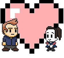 Community - Jeff and Annie 8-bit (style B) by oncenfuturekiki