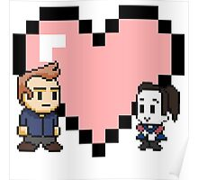 Community - Jeff and Annie 8-bit (style B) Poster