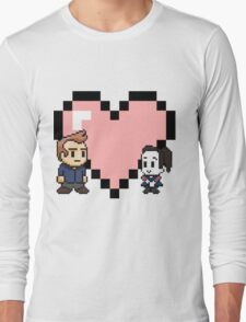 Community - Jeff and Annie 8-bit (style B) Long Sleeve T-Shirt