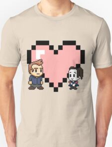 Community - Jeff and Annie 8-bit (style B) T-Shirt