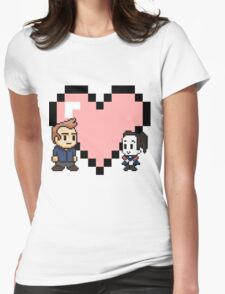 Community - Jeff and Annie 8-bit (style B) Womens Fitted T-Shirt