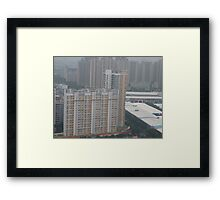 A colourful skyscraper in the early morning Framed Print