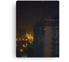 Eerie night lights Canvas Print