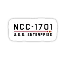 ST Registry Series - Enterprise Classic Small Logo Sticker