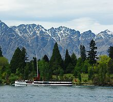 TSS Earnslaw at Queenstown NZ by Alison Murphy