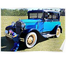 """1931 Model """"A"""" Ford and Friend Poster"""