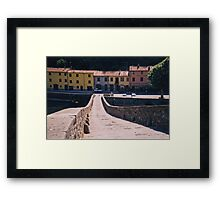 Lucca - On Devil's Bridge Framed Print