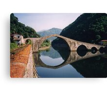Lucca - Devil's Bridge reflected Canvas Print