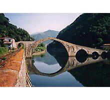 Lucca - Devil's Bridge reflected Photographic Print