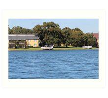 Summer Lake Scene Art Print