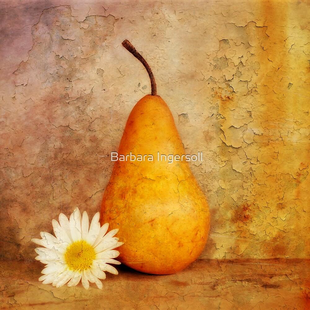 Pear & Daisy II by Barbara Ingersoll