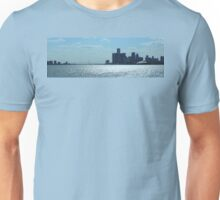 Panoramic View Of Downtown Detroit And Windsor Unisex T-Shirt