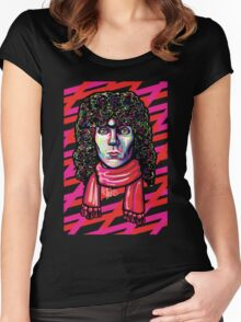 The Extra Tousled and Coiffed Mane of Russell Mael  Women's Fitted Scoop T-Shirt