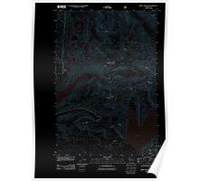 USGS Topo Map Washington State WA Spirit Lake West 20110901 TM Inverted Poster