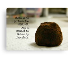Chocolate - greeting card Canvas Print