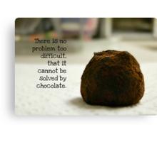 Chocolate - greeting card Canvas Print