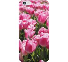 Field of Pink Tulips. iPhone Case/Skin