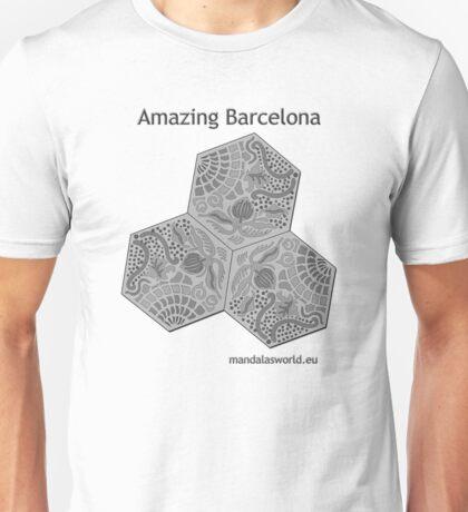 Modernist Gaudi Barcelona Tiles n1 Unisex T-Shirt