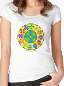 Modernist Art Guell Crypt n1 Women's Fitted Scoop T-Shirt