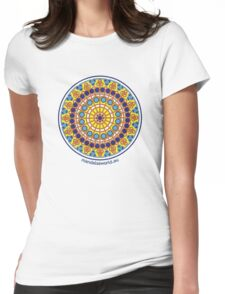 Modernist Art Mandala n1 Womens Fitted T-Shirt