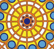 Modernist Art Mandala n1 Sticker