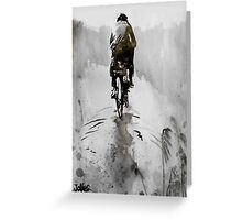 the cyclist Greeting Card