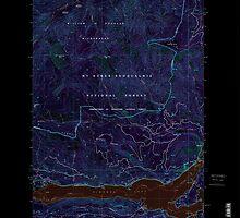 USGS Topo Map Washington State WA Rimrock Lake 243463 2000 24000 Inverted by wetdryvac