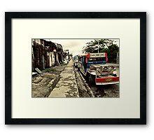 Mercedes Mazda Jeepney Framed Print