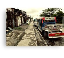 Mercedes Mazda Jeepney Canvas Print