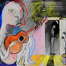 the guitarist by Loui  Jover