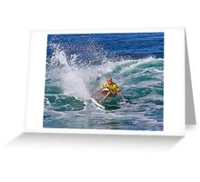 Kelly Slater.2 at 2010 Billabong Pipe Masters In Memory Of Andy Irons Greeting Card