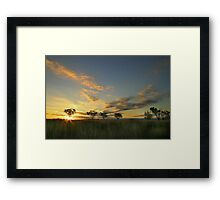 Sunset 'Willow Bend' Manilla NSW Framed Print