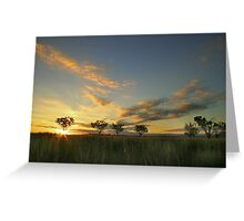Sunset 'Willow Bend' Manilla NSW Greeting Card