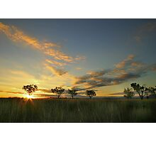 Sunset 'Willow Bend' Manilla NSW Photographic Print