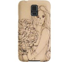 Lady with Roses (Shades of Grey) Samsung Galaxy Case/Skin