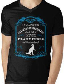 Dinosaur Love ~ Dark shirts Mens V-Neck T-Shirt
