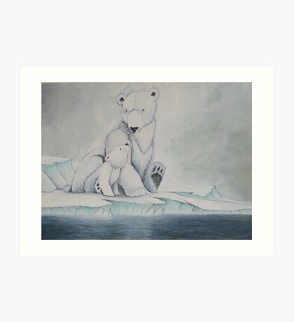 Pola bears Art Print