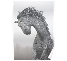 Metal Horse Statue Poster