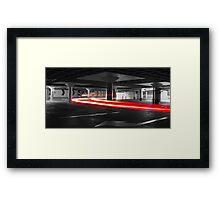 Speeding light Framed Print