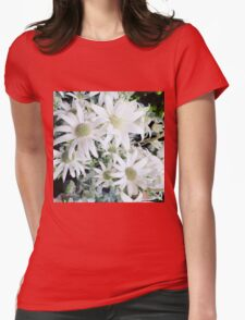 Australia Flannel Flower Womens Fitted T-Shirt