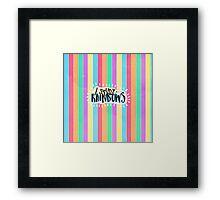 I Study Rainbows Framed Print