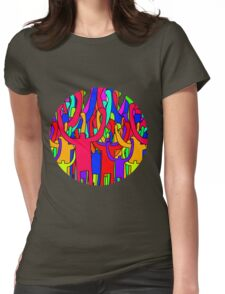 Colourful Crowd Womens Fitted T-Shirt
