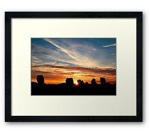 Summer Solstice at Long Meg Stone Circle 2010 Framed Print
