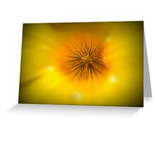 the star of a yellow bell... Greeting Card